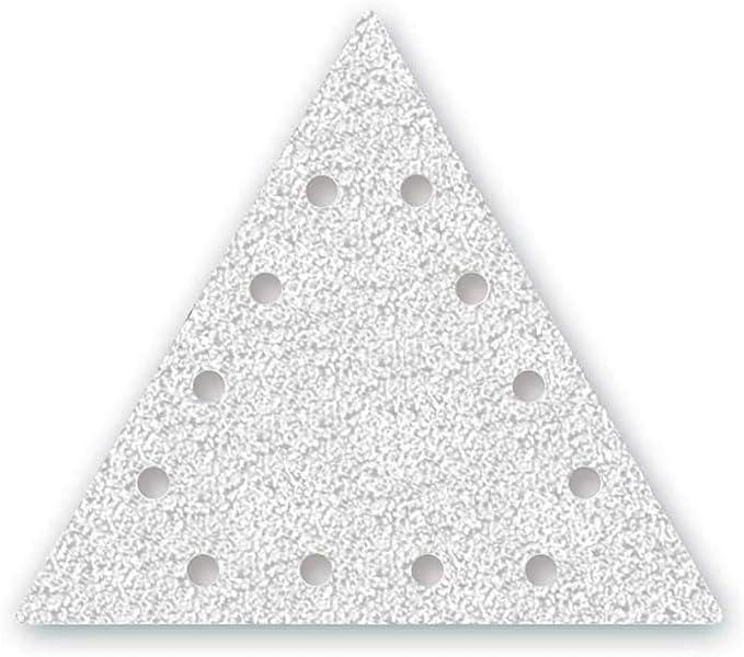 25 Carta abrasiva in velcro MENZER per FLEX WST 700 VV Vario Plus triangolari forati Grana 150 290x250 mm