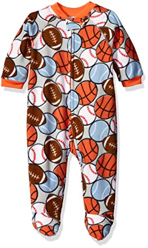 - The Children's Place Baby Boys' Long Sleeve One-Piece Pajamas, Sports/Squash Orange 68767, 3-6 Months
