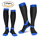 #6: Compression Socks for Women & Men (2 Pairs), Laneco Graduated Compression Sock 20-30 mmhg for Nurses, Running, Maternity Pregnancy, Athletic Sports, Flight Travel, Shin Splints, Edema, Varicose Veins