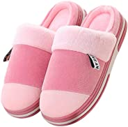 G TASTE Memory Foam Slippers Men Cotton Slippers Warm Plush Soft Shoes Indoor Outdoor Non-Slip Couple Slippers Unsex Memory F