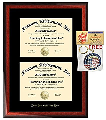 Amazon.com: Double College Diploma Frames Dual Degree Holder ...