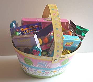 Amazon easter basket candy filled easter basket for kids easter basket candy filled easter basket for kids or adults negle Gallery