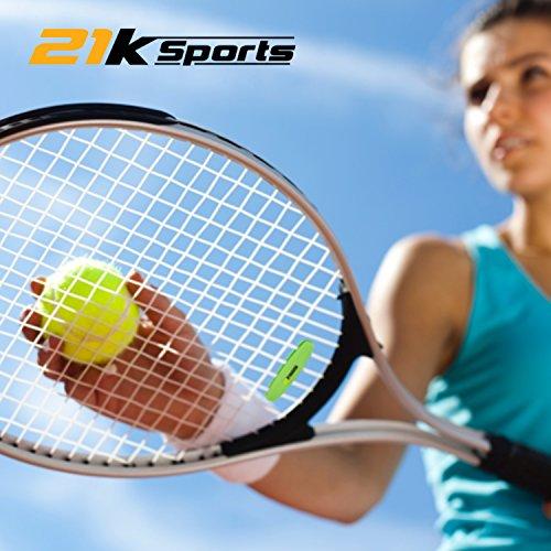Tennis Vibration Dampener- Set of 3-Tennis Shock Absorber For Strings- Best For Tennis Racket, Premium- Durable & Long-Lasting- Great For Tennis Players (Green)