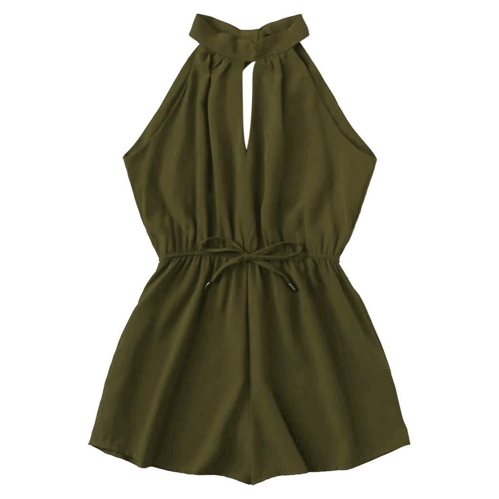 SUCES Damen Sommerkleid, Minikleid Beiläufige Ärmellos Kleid T-Shirt Kleid Schulterfrei Cocktailkleid Modisch Freizeitkleider Sexy Jumpsuit Neu