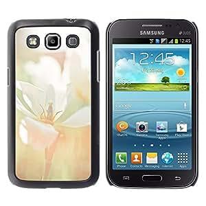 TopCaseStore / la caja del caucho duro de la cubierta de protección de la piel - Flower Blossom White Field Summer - Samsung Galaxy Win I8550 I8552 Grand Quattro