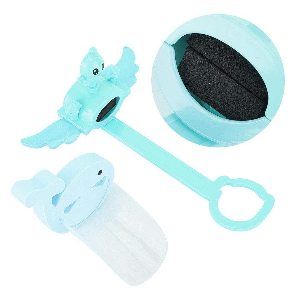 Extensor de grifo para ni/ños Azul Cartoon Splash Proof Water Boquilla Extender Sink Sink Mango Extensor para ni/ños peque/ños