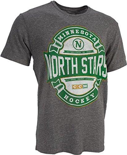 "Minnesota North Stars CCM ""Game Tested"" NHL Distressed Tri-Blend Men's T-Shirt"
