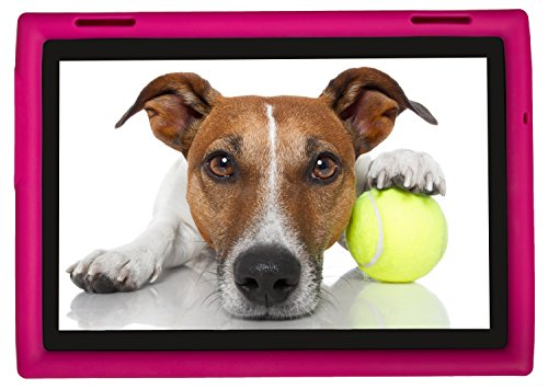 Bobj Rugged Case for Lenovo Tab 4 10 inch, TB-X304 F/L/X, (NOT FOR Tab 4 10 Plus TB-X704) - BobjGear Custom Fit - Patented Venting - Sound Amplification - BobjBounces Kid Friendly (Rockin' Raspberry)