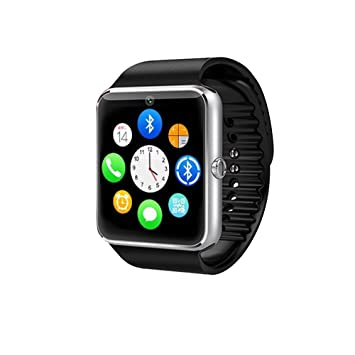 Bluetooth reloj inteligente pantalla táctil con cámara, reloj de pulsera, desbloqueado reloj teléfono móvil