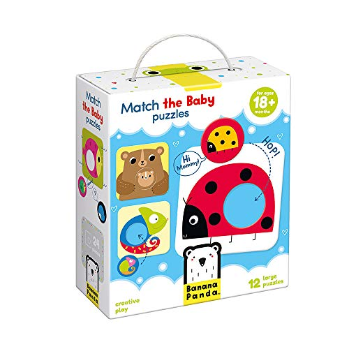 Banana Panda Match The Baby Puzzle Set, Beginner Puzzles & Matching Activity For Kids Ages 18 Months & Up ()