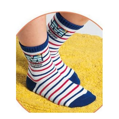 FANTASIEN 10 Pairs Boys Cotton Socks Seaman Kids Socks Size Ages 4-7 Years : Baby
