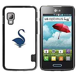 Paccase / SLIM PC / Aliminium Casa Carcasa Funda Case Cover para - Swan on water - LG Optimus L5 II Dual E455 E460