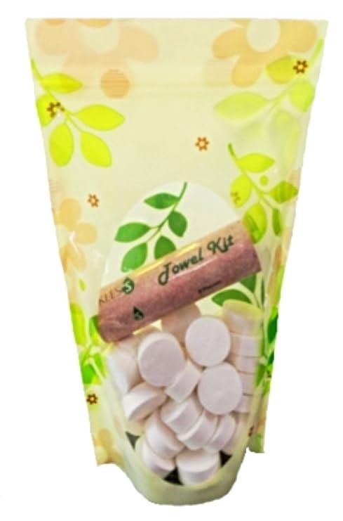 KLESS Toallas Comprimidas Biodegradables,Ahorran Espacio, Absorbente, Refrescantes, Desechables Perfectas Para Viajes