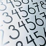Modern Style Die Cut Vinyl Numbers (3 inch Metallic Silver Gray)