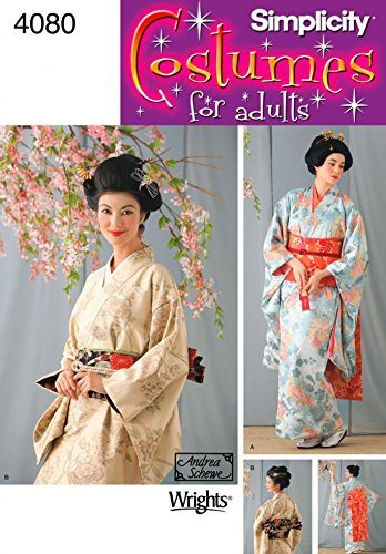 Simplicity Ladies Sewing Pattern 4080 Geisha Kimono & Dickey Costumes