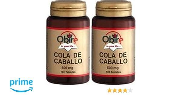 Obire - Cola de Caballo, 375 mg, 100 Comprimidos (Pack 2 u.): Amazon.es: Salud y cuidado personal