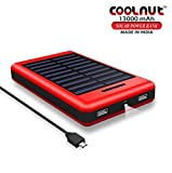 COOLNUT Solar Power Bank 13000mAh,Solar Charger for Mobile,iPhone,iPad,Samsung,HTC and More