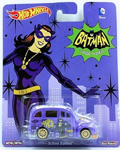 Hot Wheels Batman Classic TV Series Catwoman School Busted Die -