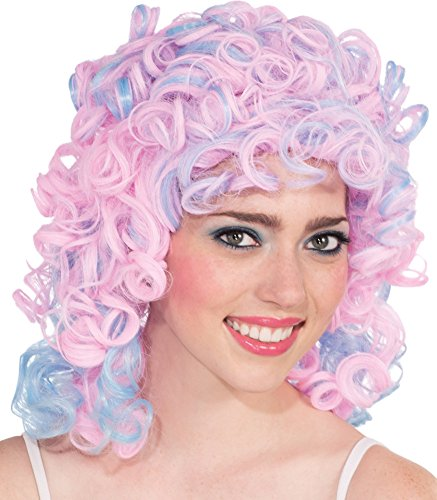 Rubie's Two Tone Pastel Cotton Candy Curly Wig, Blue/Pink, One Size]()
