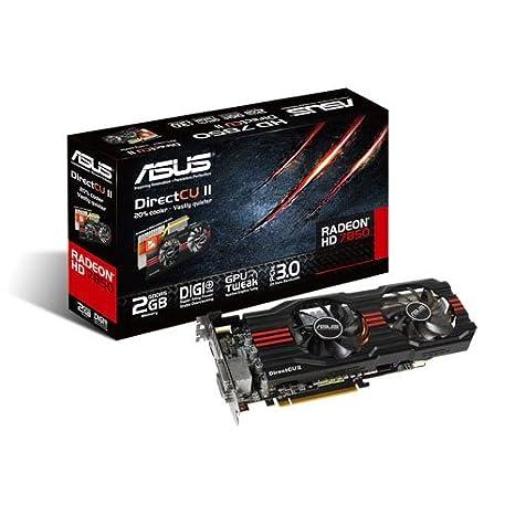 ASUS HD7850-DC2-2GD5-V2 - Tarjeta gráfica (Radeon HD 7850, 2560 x 1600 Pixeles, AMD, 2 GB, GDDR5-SDRAM, 256 bit)