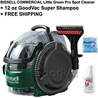 Bissell Commercial Little Green Pro Commercial Spot Cleaner BGSS1481 with 12oz GoodVac Super Shampoo Carpet Cleaning Shampoo and 1 Year Commercial Warranty