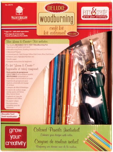 Deluxe Woodburning Craft Kit 1 pcs sku# (Deluxe Wood Burning Kit)