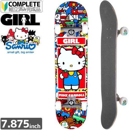 GIRL SKATEBOARD ガール コンプリート CARROLL HELLO KITTY COMPLETE サンリオ ハローキティ 7.875 x 31.25