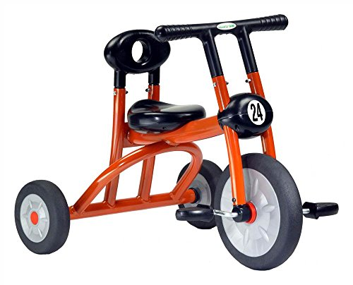 Toddler Orange Tricycle w Child-Safe Construction by Italtrike