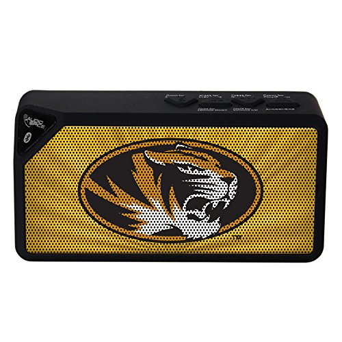 AudioSpice NCAA Missouri Tigers BX-100 Bluetooth Speaker, Black ()