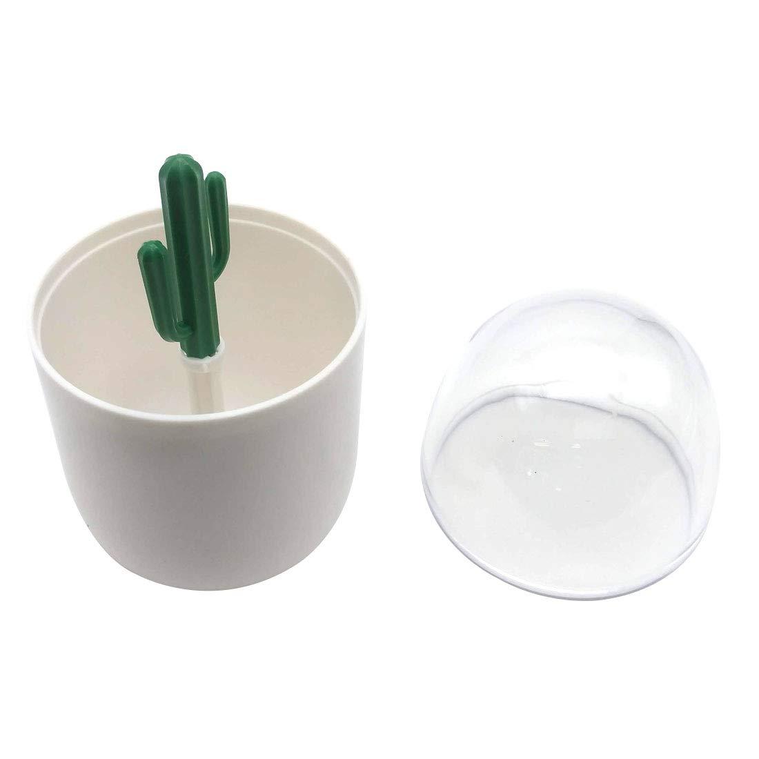 Table Decorate Transparent Plant//animal Toothpick Storage Boxs Cotton Swab Box Dust toothpick Box Storage Tank Cactus