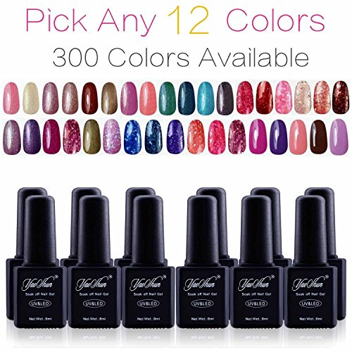 Yaoshun Pick Any 12 Colors Soak Off Gel Nail Polish 300 Colo