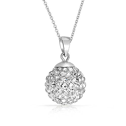 4d907e5d2 Amazon.com: Crystals from Swarovski 18 ct Gold Plated Disco Ball White Pendant  Necklace for Women 18