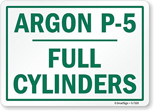 12 Length 0.5 Height Smartsign S-7320-HI-12x18Argon P-5 Full Cylinders High Intensity Reflective Sign 18 Width