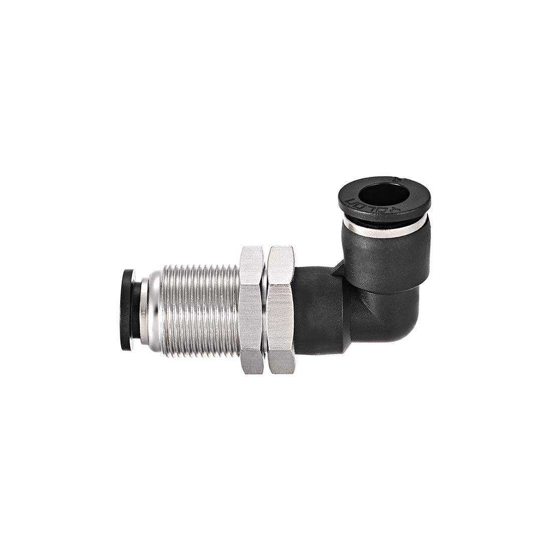 uxcell 8mm Tube to 3//8BSPT Push Lock Fitting Bulkhead Union Air Fittings