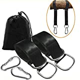 RIJER Tree Swing Straps 2PACK Hanging Kit 5ft Adjustable Straps Hold 2000lbs With Two Heavy Duty Carabiner - Perfect for Outdoor Sports Tire and Saucer Swings Hammock and Any Swings