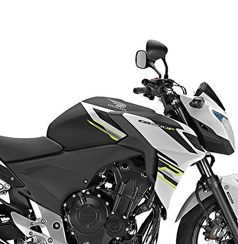 Prot/ège R/éservoir Bagster Honda CB 500 F 2016 Noir mat graine Bande Nickel