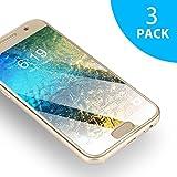 Protection écran Samsung Galaxy J3 2016 en Verre Trempé SUERW [3 Pack] Vitre Film Protecteur (0.25mm, HD, Ultra Transparent)