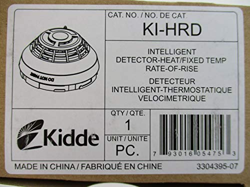 Kidde KI-HRD - Intelligent Fixed Temperature/Rate of Rise Heat Detector (Rate Of Rise And Fixed Temperature Heat Detectors)