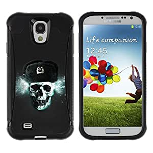 Suave TPU GEL Carcasa Funda Silicona Blando Estuche Caso de protección (para) Samsung Galaxy S4 IV I9500 / CECELL Phone case / / Russian Skull CCCP /