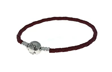 f154d572d0592 Pandora Red Braided Leather Charm Bracelet 20.5cm 590745CRDS3