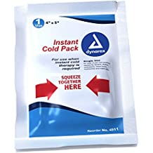 Dynarex Instant Cold Pack, 4 Inches x 5 Inches, 24-Count