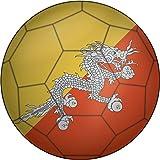 Bhutan Flag Soccer Ball Home Decal Vinyl Sticker 12'' X 12''