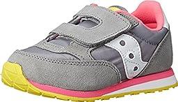 Saucony Kids Unisex Jazz Hook & Loop (Toddler/Little Kid) Grey/Pink Athletic Shoe