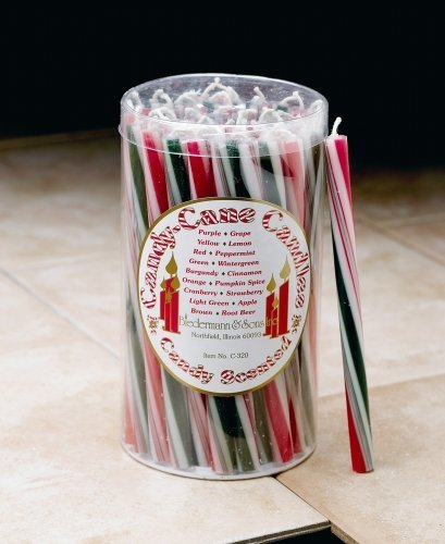 (Biedermann & Sons C320X Candycane Candle - Traditional)
