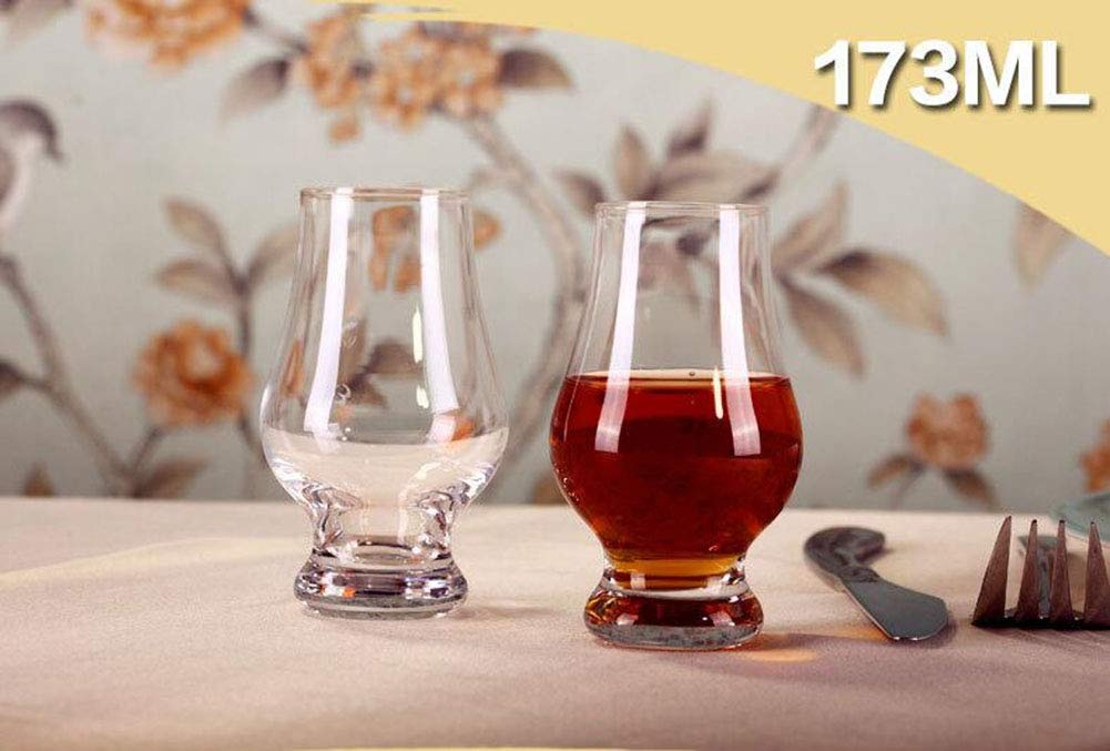Kefbhefe Whiskey Glass, Lead-Free Crystal Glass, 173Ml, 2, 4, 6,Package1:2Cups