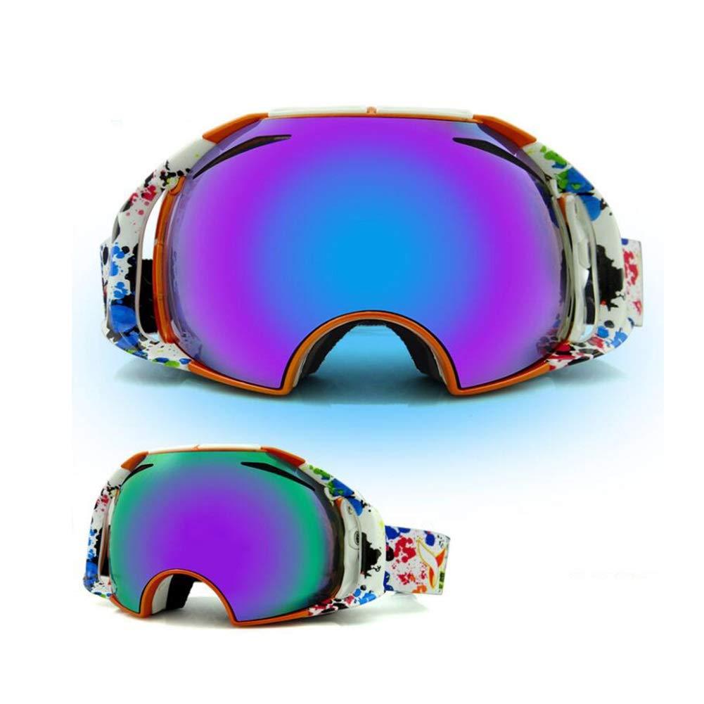 He-yanjing Ski Goggles for Men and Women,Anti-Fog Jet Snow Skiing Skis Goggles,Climbing Mirror,Jumper Mirror,Free Mirror,Fashion Outdoor Hiking ski Goggles (Color : B) by He-yanjing