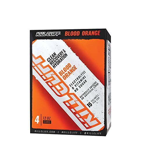 Kill Cliff Electrolyte Recovery Drink, Blood Orange, 12 Ounce, 4 Count; Low Cal, No Sugar (Recovery Peak)