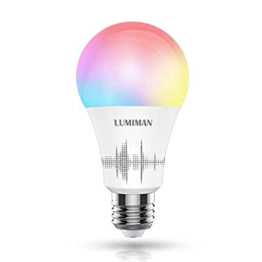 LUMIMAN WiFi Smart LED Light Bulb Multicolor, Compatible with Alexa and Google Home, No Hub Required, A19, 7.5W (70W Equivalent), LM530
