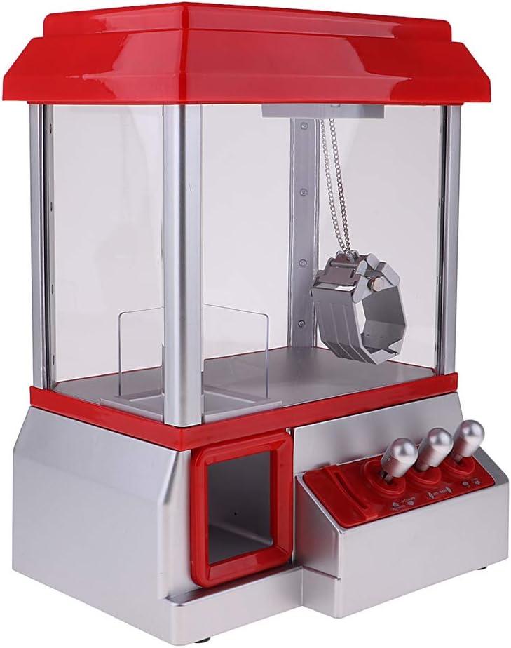 B Blesiya Creativa Máquina de Garra Aparato de Agarra de Dulces / Muñecas / Juguetes - Rojo + Gris, 25.5x19x34.5cm