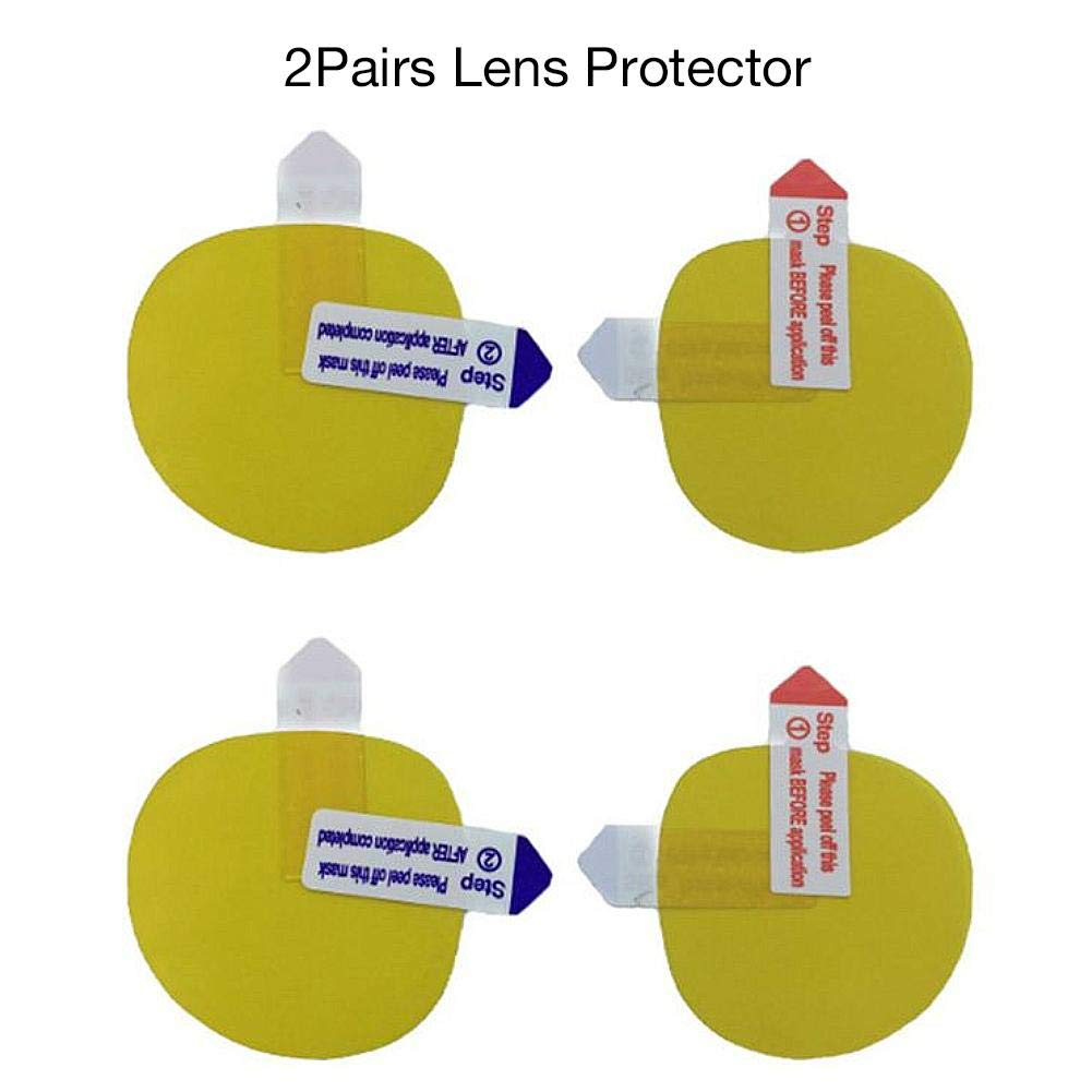 fervory 2 Pares Gafas VR Pel/ícula Protectora Lens Protector HD Clear Lens Pel/ícula Protectora para HTC Vive Pro VR Headset